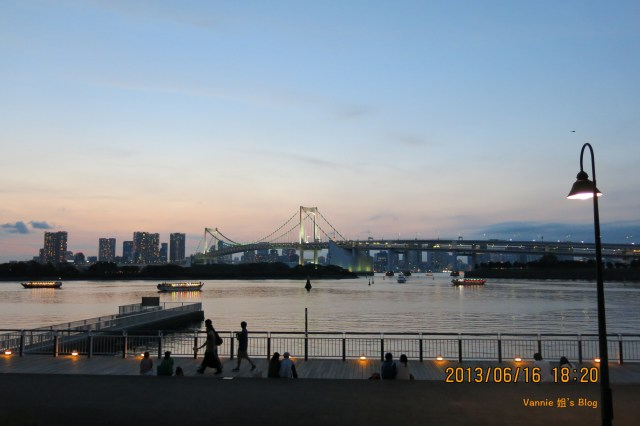 Tokyo Night View Odaiba walking in the park
