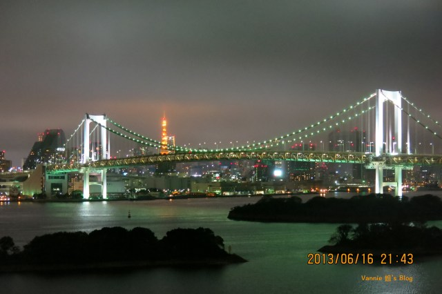 Tokyo Night View Odaiba Nikko Hotel raibow bridge