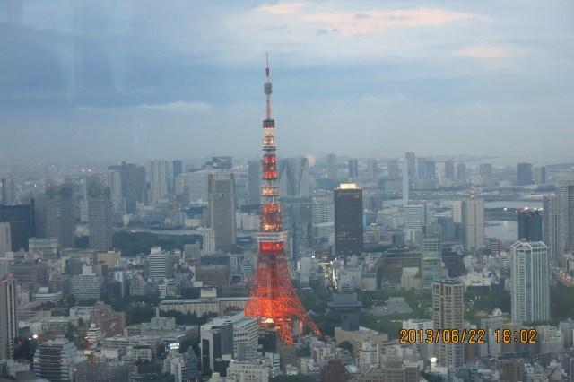 東京高樓夜景 六本木之丘森大樓看東京鐵塔
