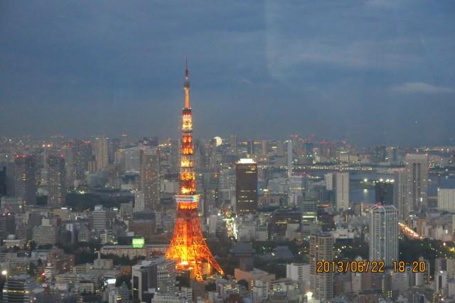 Tokyo Roppongi Hills Night View of Tokyo Tower_18:20