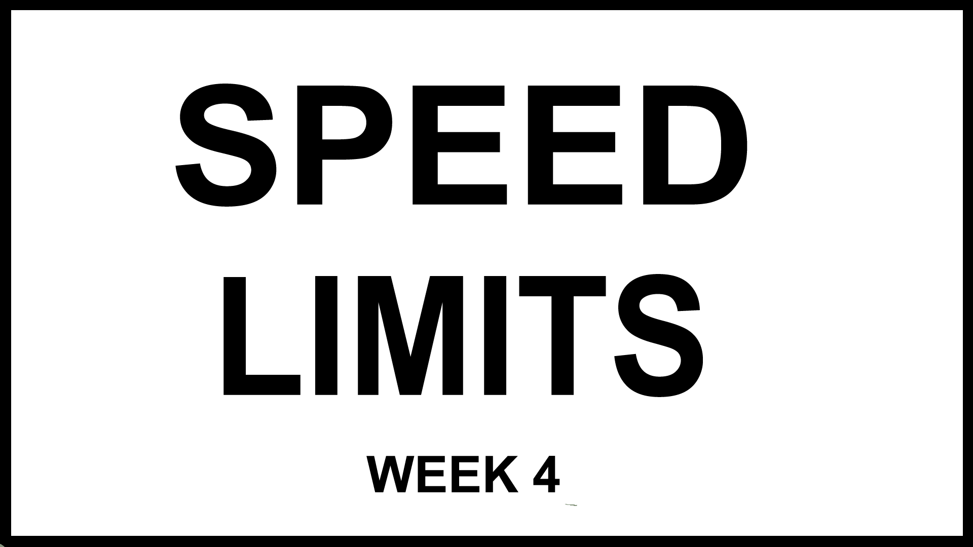 Web Comic: Speed Limits