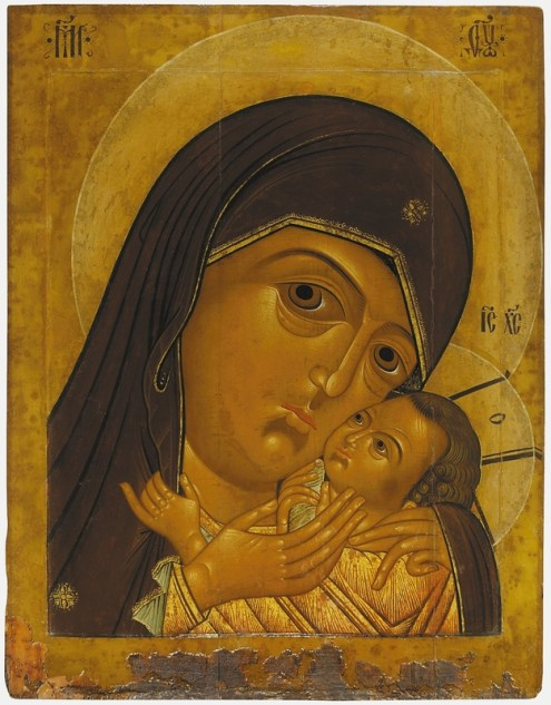 The Mother of God of Korsun, early 17th century. Tempera on wooden panel. 105 x 83 cm. Yaroslavl Art Museum, Yaroslavl, Russia.