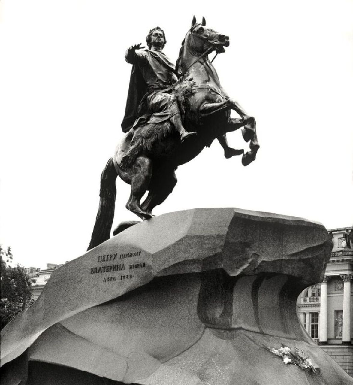 """William C. Brumfield. Monument to Peter the Great """"Bronze Horseman."""". 1985. Photograph. 1768 – 1778. Sculptor: Etienne Maurice Falconet"""
