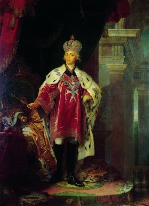 Portrait of Paul I, 1800. Painting.