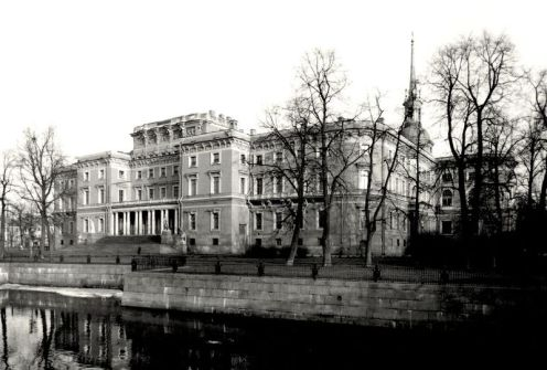 William C. Brumfield. Mikhailovsky Castle. Park Façade.. 1984. Photograph.