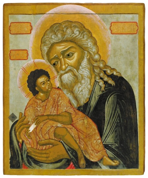 St. Simeon the God-Receiver, late 17th century. Tempera on wooden panel. 115 x 96 cm. Yaroslavl Art Museum, Yaroslavl, Russia.