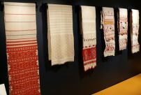 Embroidered Towels Display, early 19th-late 20th century. Russia. Private Collection of Susan Johnson. Varied materials and techniques.