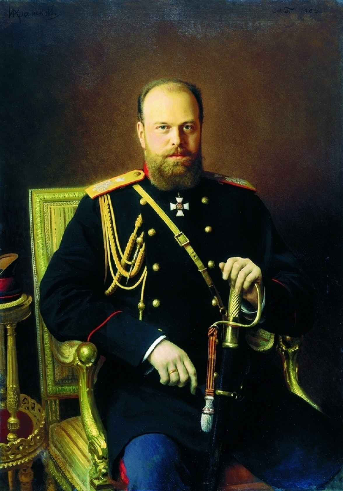 Portrait of Emperor Alexander III, 1886. Painting.