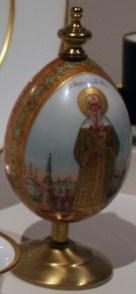 Presentation Easter egg, images of St. Alexii, 1887-1890s