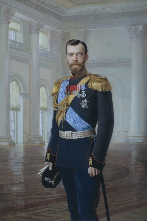 Portrait of Nicholas II, 1900. Painting.