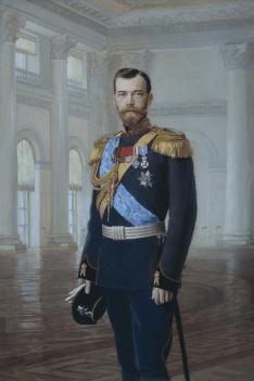 Ernest Lipgart. Portrait of Nicholas II, 1900. Painting.