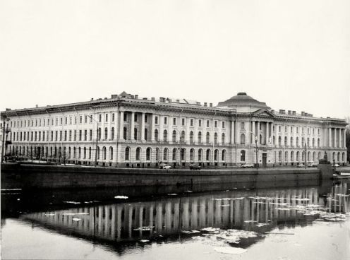 William C. Brumfield. Academy of Arts. Neva River.. 1979. Photograph. 12 x 18 in..