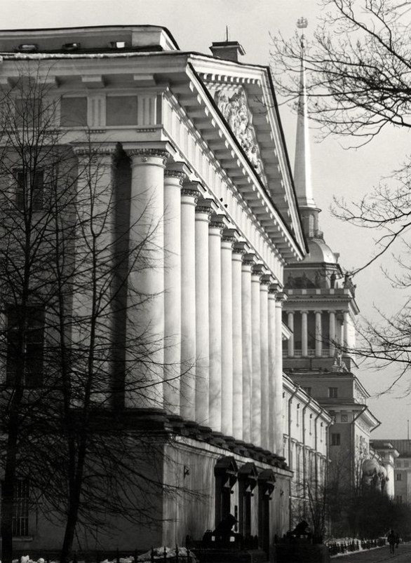 William C. Brumfield. The Admiralty. Main Façade and Tower.. 1980. Photograph. 12 x 18 in..