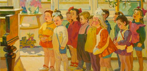 Mikhail Samkov. Children Singing, 1971-72