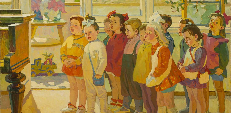 Mikhail Samkov. Children Singing, 1971-72