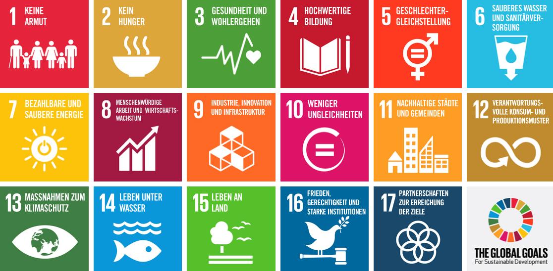 17 Nachhaltigkeitsziele der UN (SDG)