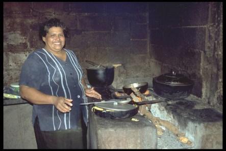Traditionelle Rauchküche