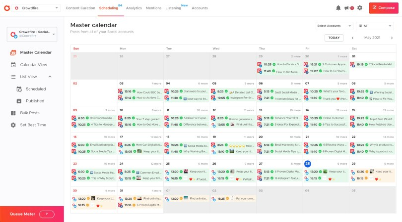 Scheduling - Crowdfire on Desktop 2021-05-28 at 7.46.57 PM