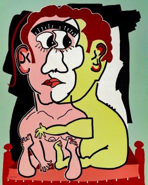 je m aime et toi - originale - copie - peinture néo expressionnisme - tmpx