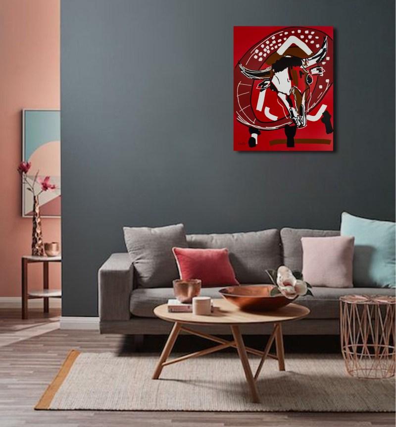 Le Gladiateur - originale - peinture néo expressionnisme - tmpx mur
