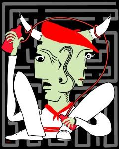 Minotaure AllCool - copie - peinture néo expressionnisme - tmpx
