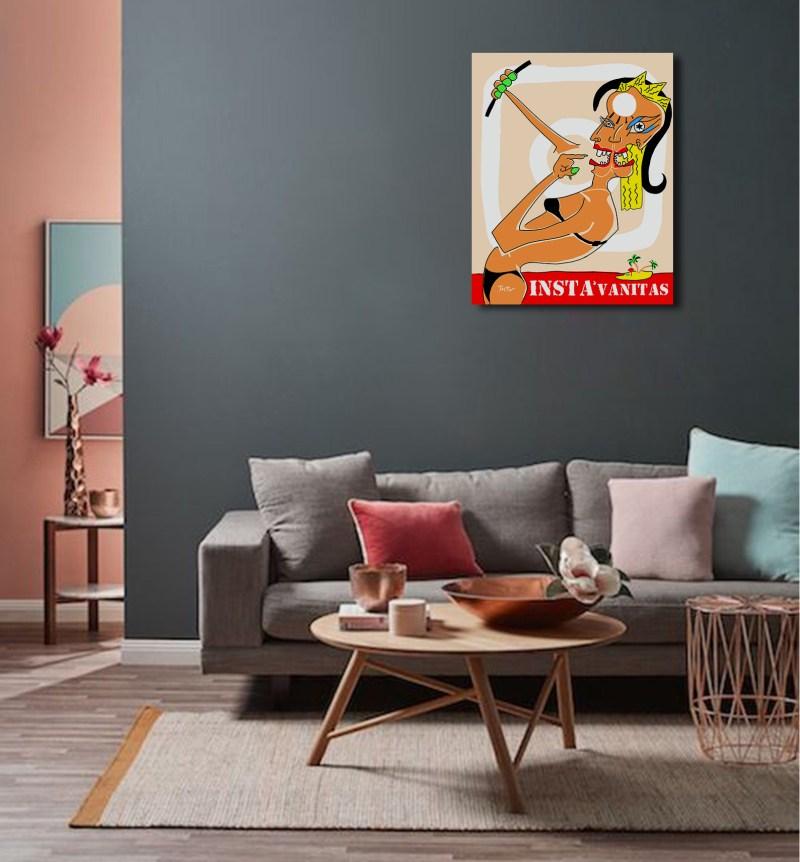 InstaVanitas - originale - peinture néo expressionnisme - tmpx