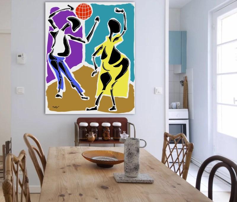 Disco - originale - peinture néo expressionnisme - tmpx