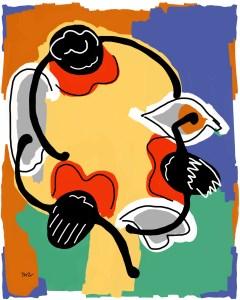 Marthe Keller - originale - peinture néo expressionnisme - tmpx