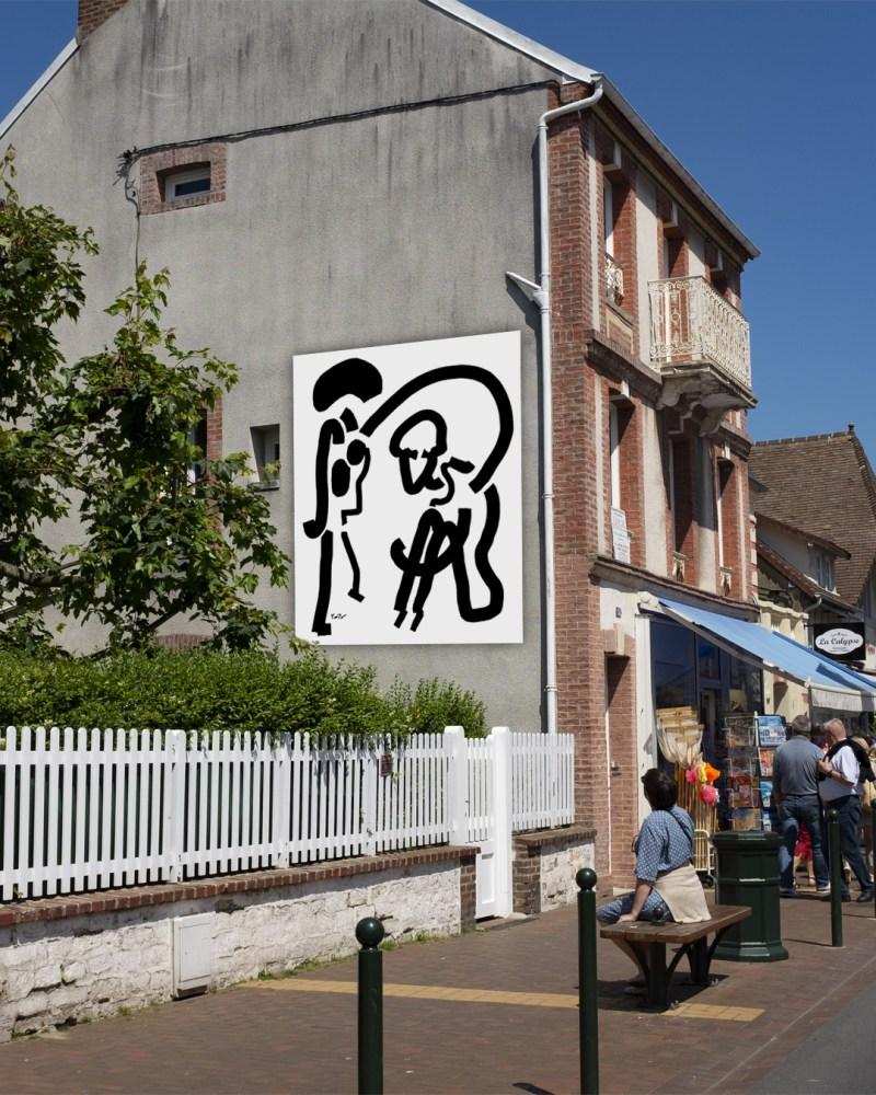 Solidarité - originale - peinture néo expressionnisme - tmpx