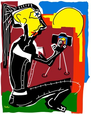 Photographer - original - painting neo expressionism - tmpx