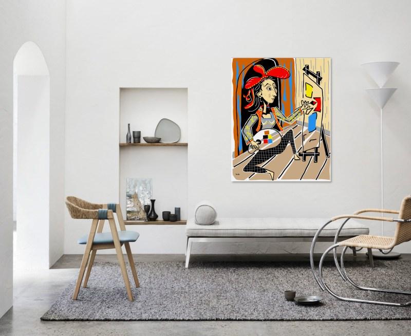 Atelier - originale - peinture néo expressionnisme - tmpx