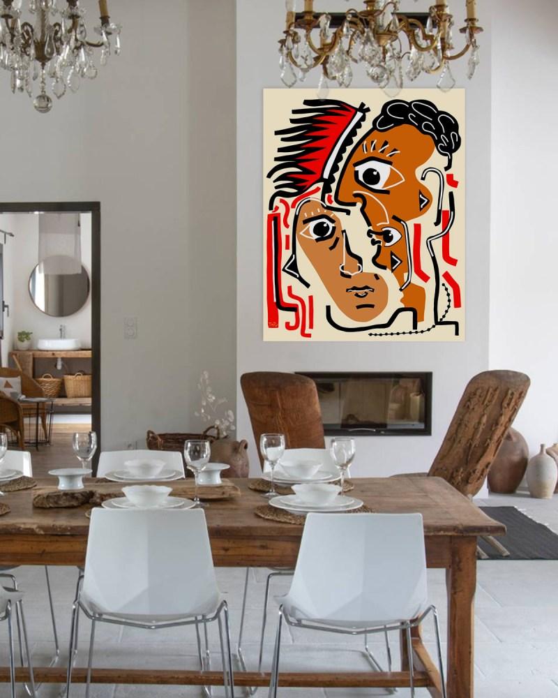 Portrait 11120 - originale - peinture néo expressionnisme - tmpx