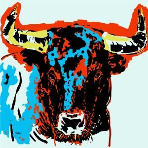 Taureau- copie - peinture néo expressionnisme - tmpx