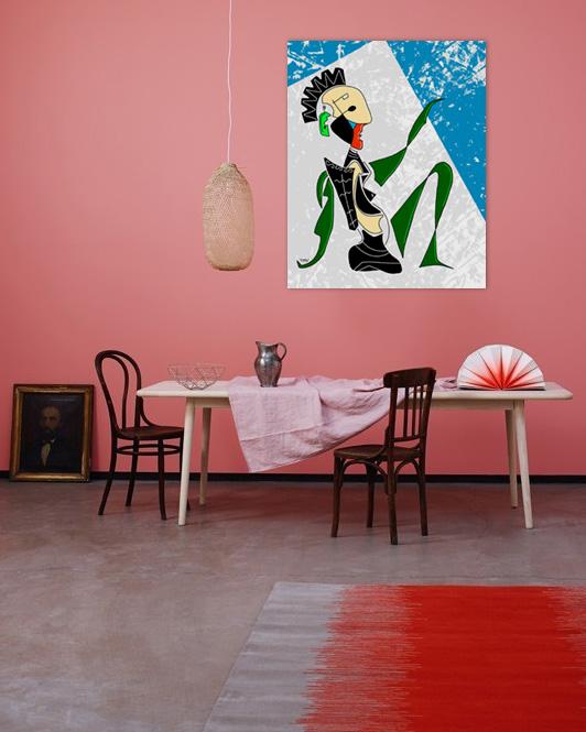 Vert mėcanique - originale - peinture néo expressionnisme - tmpx