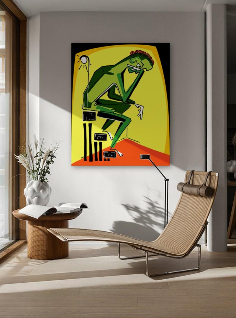 Penseur - originale - peinture néo expressionnisme - tmpx