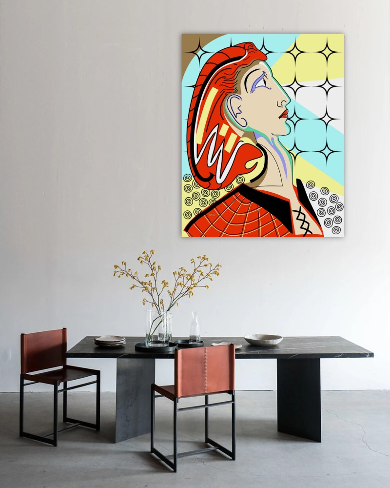 Simone - originale - peinture néo expressionnisme - tmpx