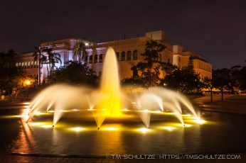 Scripps Fountain At Night