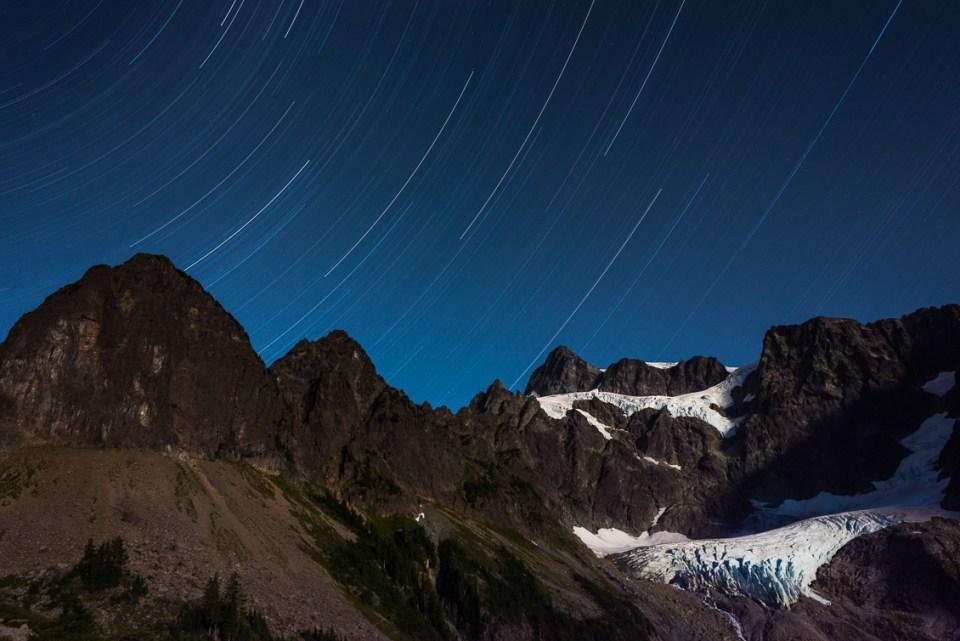 Mt Shuksan Star Trails by T.M. Schultze