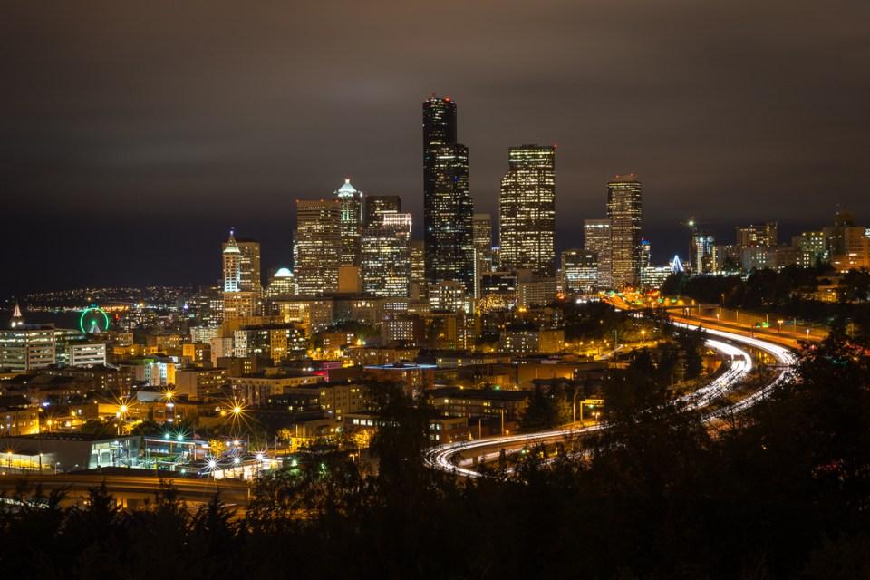 Downtown Seattle, Jose Rizal Park, by T.M. Schultze