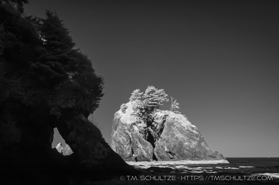 Point of Arches, Infrared, by T.M. Schultze