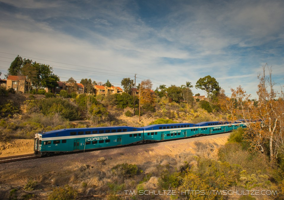 San Diego Coaster In Rose Canyon, by T.M. Schultze