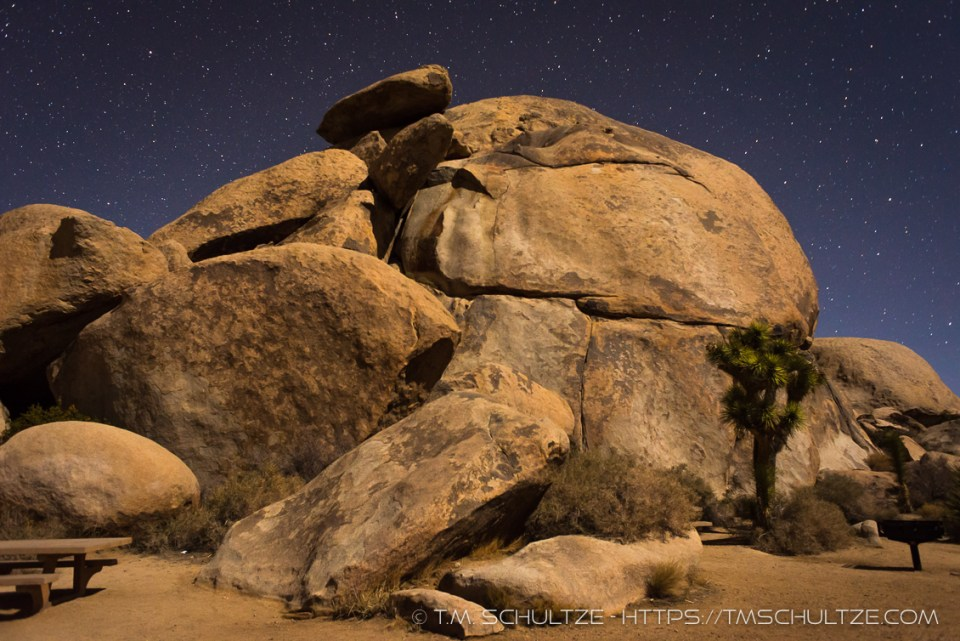 Cap Rock Area At Night by T.M. Schultze