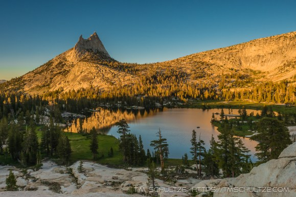 Sunset At Upper Cathedral by T.M. Schultze