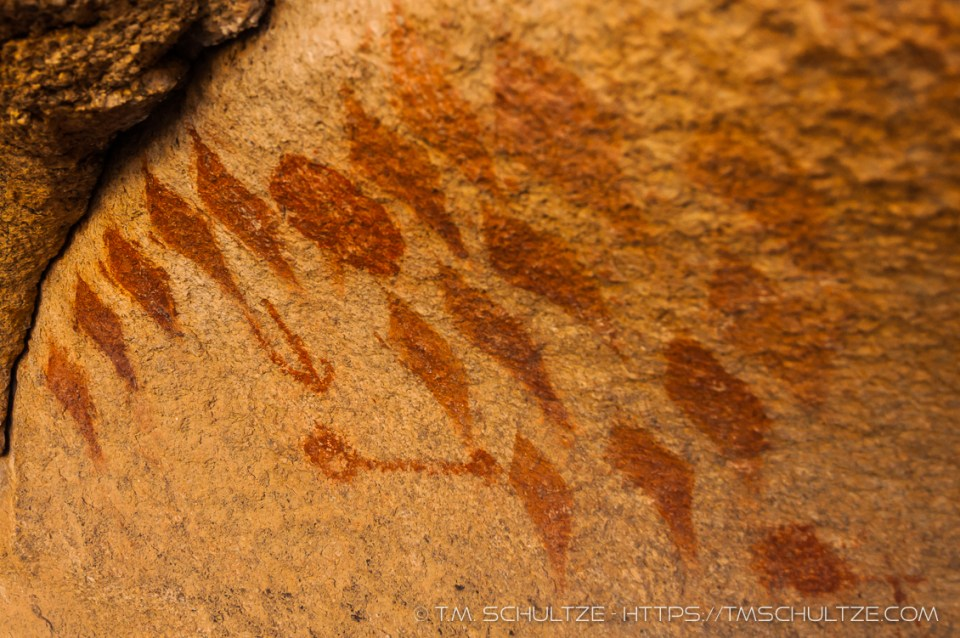 Diamond Pictographs, Joshua Tree, by T.M. Schultze