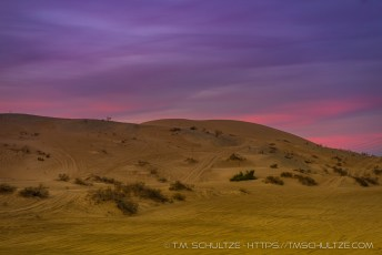 Sand Dunes Before Sunrise