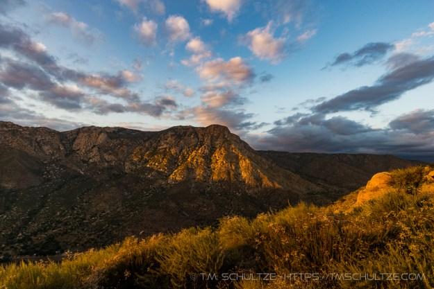 El Cajon Mountain Last Light by T.M. Schultze