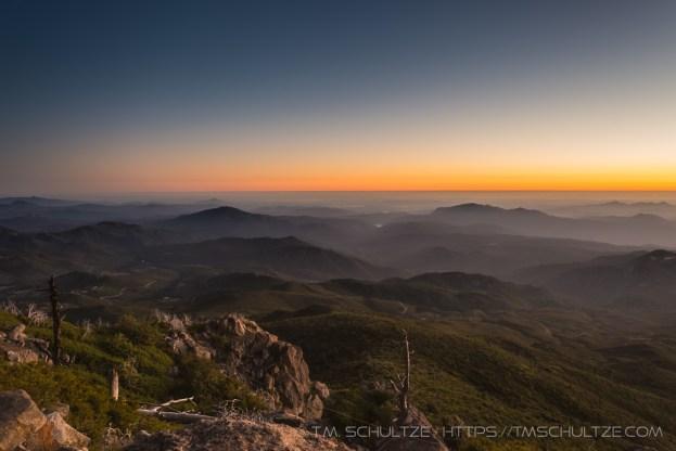 Sunset on Cuyamaca Peak