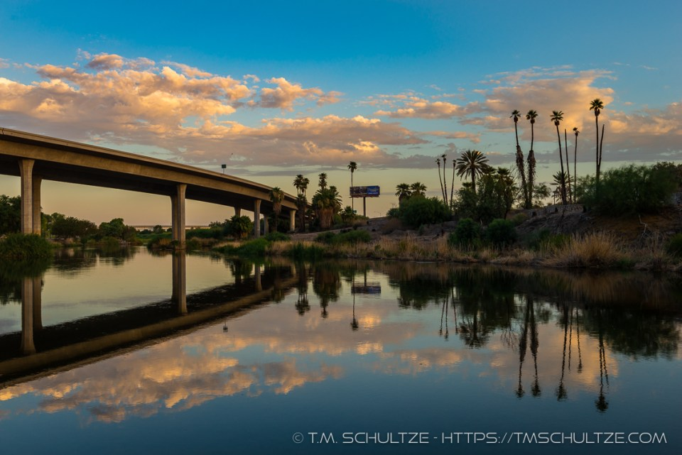 Interstate 8 Over The Colorado River by T.M. Schultze