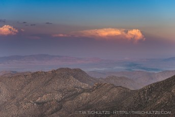 Last Light on Anza Borrego Clouds