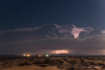 Highway 78, Glamis, Lightning
